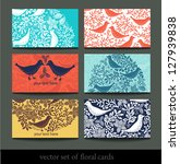 Vector Set Of Colorful Floral...