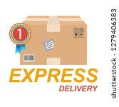 fast delivery concept  box icon.... | Shutterstock .eps vector #1279406383