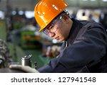 technician working in factory... | Shutterstock . vector #127941548