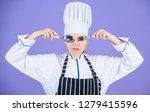 culinary school concept. woman...   Shutterstock . vector #1279415596