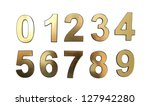 golden numbers  isolated on... | Shutterstock . vector #127942280