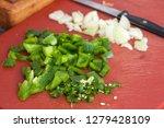 Chopped Green Bell Pepper ...
