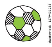 handdrawn football ball doodle... | Shutterstock .eps vector #1279431253