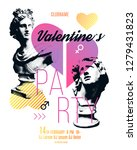 valentines day party flyer... | Shutterstock .eps vector #1279431823