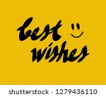 best wishes card with... | Shutterstock .eps vector #1279436110