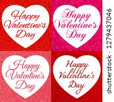 happy valentine's day. frames... | Shutterstock .eps vector #1279437046