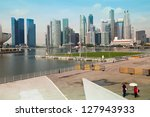 singapore   apr 15  a view of... | Shutterstock . vector #127943933