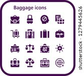 baggage icon set. 16 filled... | Shutterstock .eps vector #1279445626