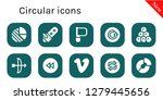 circular icon set. 10 filled...