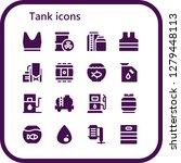tank icon set. 16 filled tank... | Shutterstock .eps vector #1279448113