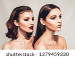 beauty and makeup concept with... | Shutterstock . vector #1279459330