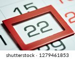 twenty second day of the month... | Shutterstock . vector #1279461853