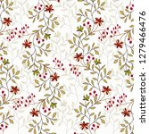 abstract floral background. | Shutterstock .eps vector #1279466476