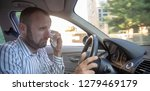 aggressive and crazy driver in... | Shutterstock . vector #1279469179