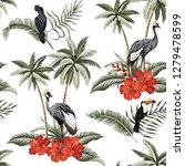 tropical vintage botanical... | Shutterstock .eps vector #1279478599
