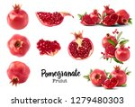 set with different fresh ripe... | Shutterstock . vector #1279480303