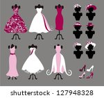 hats   dresses and shoes