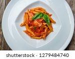pasta penne arabiata | Shutterstock . vector #1279484740