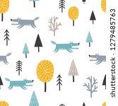 seamless scandinavian pattern... | Shutterstock .eps vector #1279485763