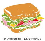 colorful pictogram icon... | Shutterstock .eps vector #1279490479