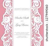 invitation vintage card with... | Shutterstock .eps vector #127949060