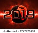 futuristic scene 2019 calendar... | Shutterstock . vector #1279491460