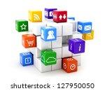 3d illustration of software... | Shutterstock . vector #127950050