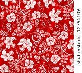 beautiful flower pattern ... | Shutterstock .eps vector #12795109