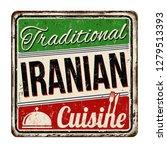 traditional iranian cuisine... | Shutterstock .eps vector #1279513393