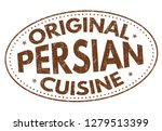 original persian cuisine sign... | Shutterstock .eps vector #1279513399