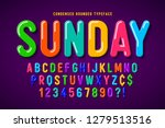 flat bubble comical font design ... | Shutterstock .eps vector #1279513516