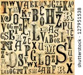 alphabet background | Shutterstock . vector #127951538