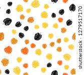 light orange vector seamless... | Shutterstock .eps vector #1279517170