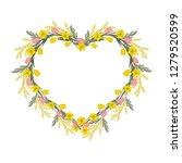 floral frame in the shape of a...   Shutterstock .eps vector #1279520599