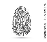 fingerprint icon isolated on... | Shutterstock .eps vector #1279521676