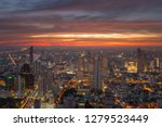 beautiful cityscape skyline at... | Shutterstock . vector #1279523449