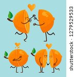 san valentines's happy orange... | Shutterstock .eps vector #1279529533