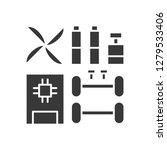 robot kit icon. robotics symbol ...