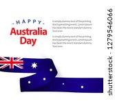 happy australia day vector... | Shutterstock .eps vector #1279546066