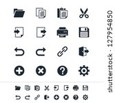 application toolbar icons | Shutterstock .eps vector #127954850