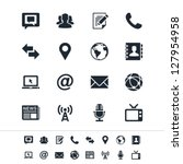 media and communication icons | Shutterstock .eps vector #127954958