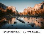 classic view of scenic yosemite ... | Shutterstock . vector #1279558363