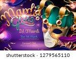 mardi gras carnival design with ... | Shutterstock .eps vector #1279565110