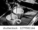 espresso shot from coffee... | Shutterstock . vector #1279581166