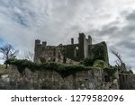 irish castle reclaimed by nature | Shutterstock . vector #1279582096