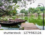 traditional wooden boats... | Shutterstock . vector #1279582126