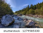 white water of the loisach...   Shutterstock . vector #1279585330