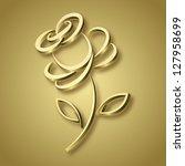 golden rose  raster version   Shutterstock . vector #127958699