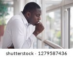 sick african man coughing ... | Shutterstock . vector #1279587436