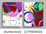 modern abstract covers set.... | Shutterstock .eps vector #1279600426